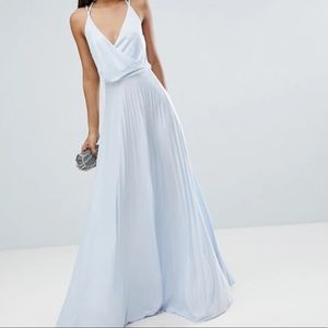 ASOS blouson pleated maxi dress